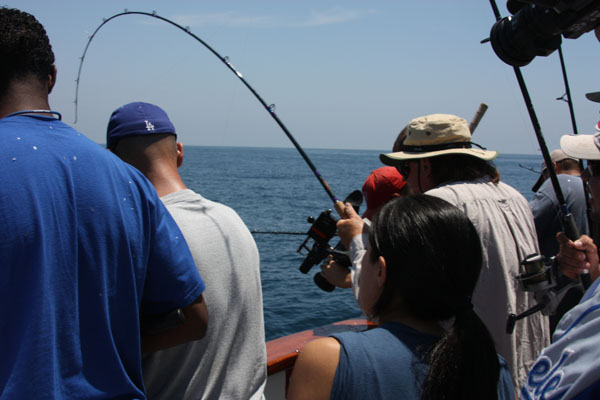 Long beach sportfishing l a dodgers 976 tuna the for Southern california saltwater fishing report