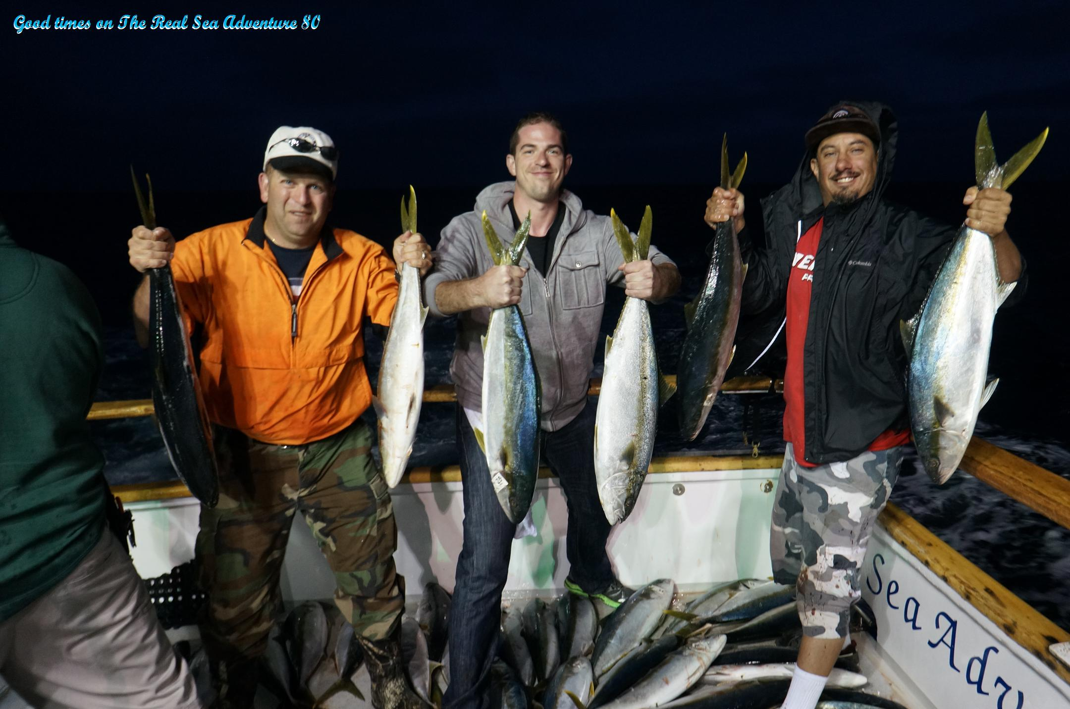 Just off loaded another fun catch of early june yellowtail for H m landing fishing report