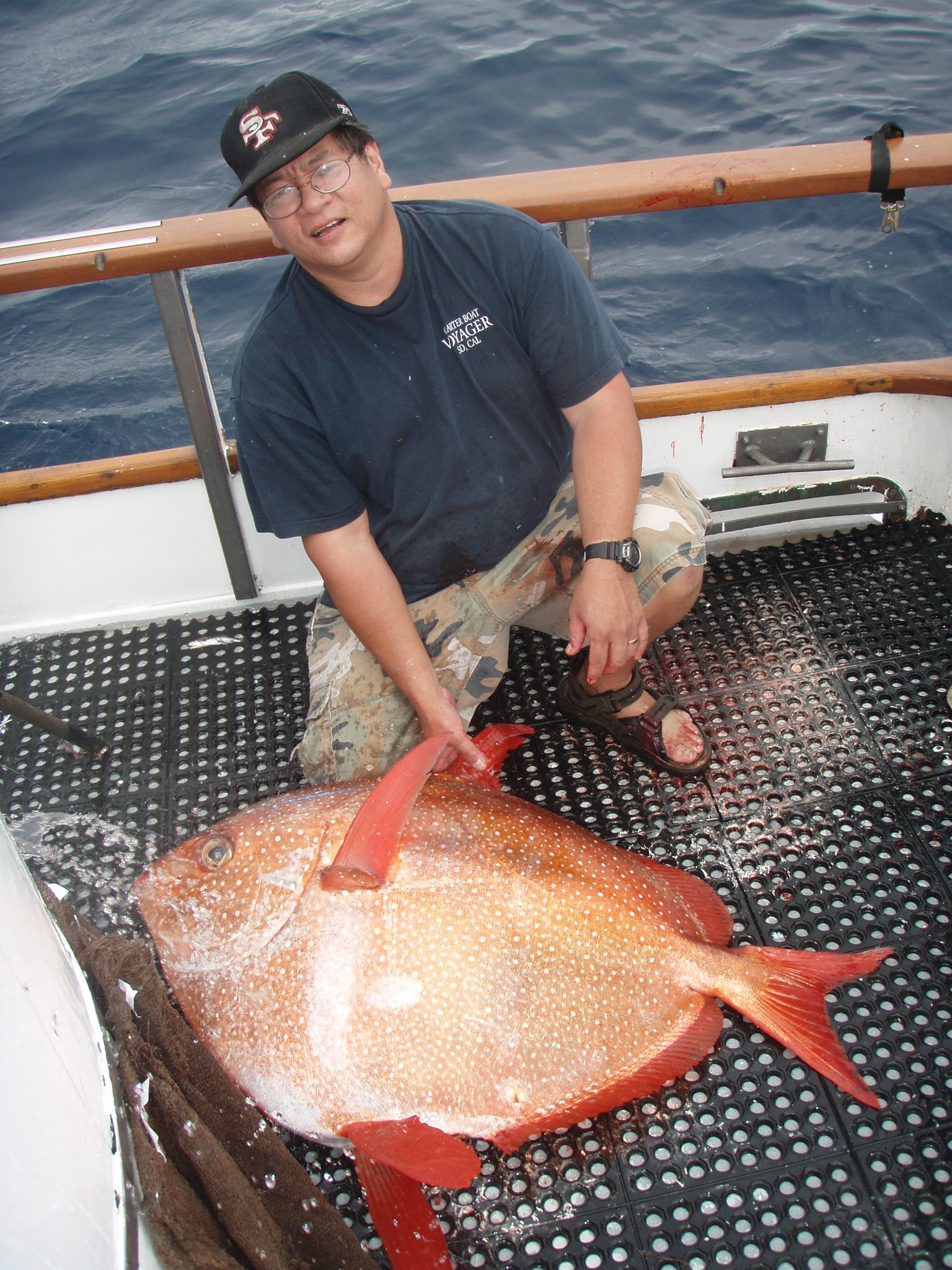 Robert kato with a 91 pound opah 976 tuna the original for Seaforth landing fish report